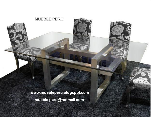 Hermoso comedor diana con moderna mesa de acero y for Comedores elegantes