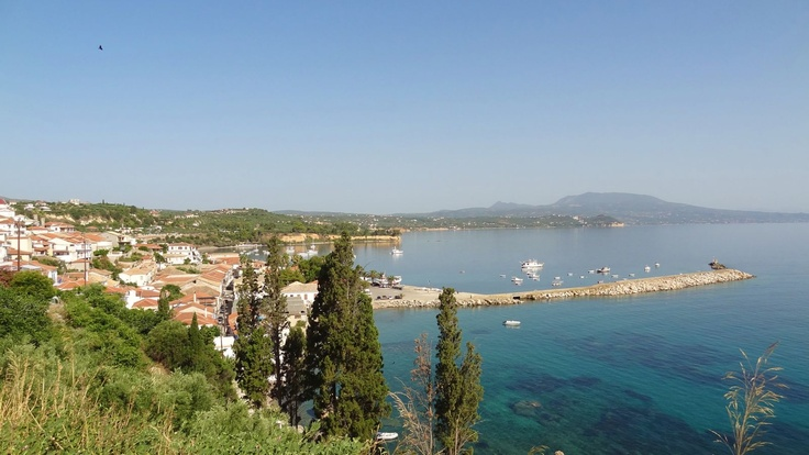 View from the castle at Koroni