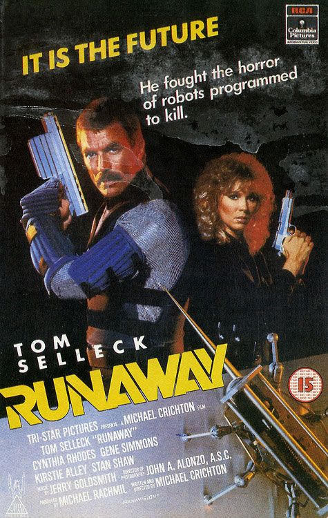 """Runaway"" (1984) VHS cover 