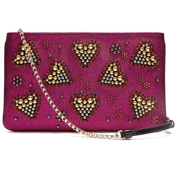 15f0b82b265 Christian Louboutin Loubiposh spike-embellished glitter pouch ...