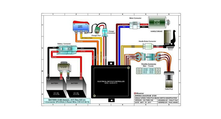 Electric Scooter Wiring Diagram Owner U0026 39  And Razor Manuals