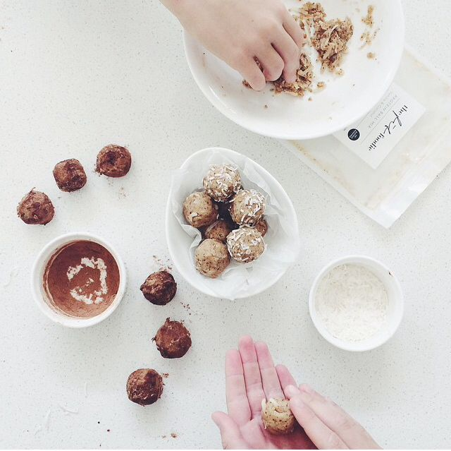 Vanilla & Coconut Protein Balls with @wholesome_cook