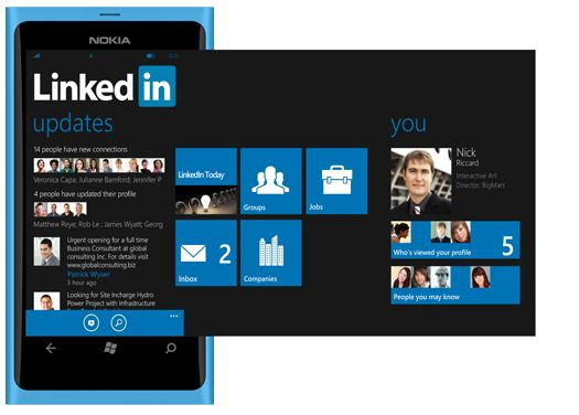 LinkedIn unveils sophisticated Windows Phone app