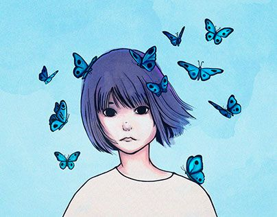 """Check out new work on my @Behance portfolio: """"Blue thoughts"""" http://be.net/gallery/36582555/Blue-thoughts"""
