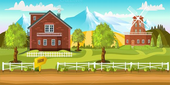 Farm Game Background by VitaliyVill on @creativemarket