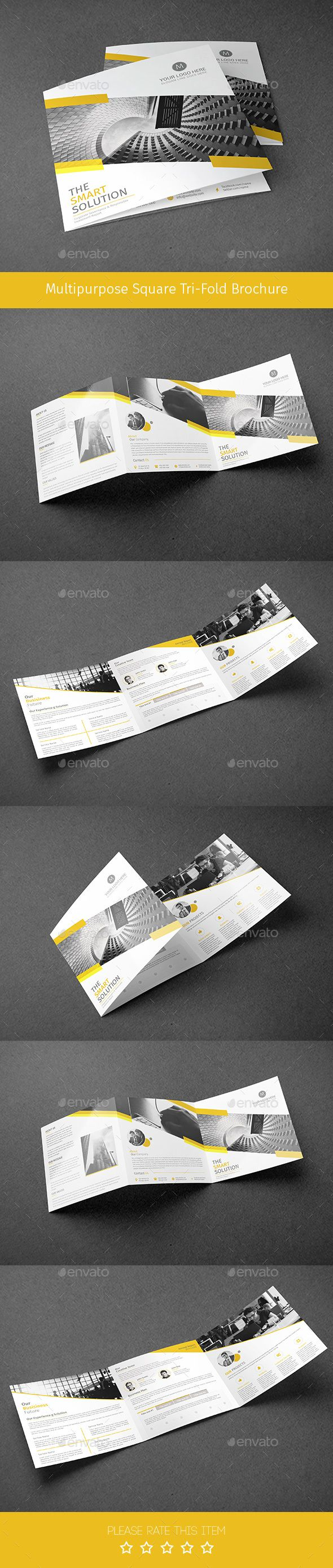 Corporate Tri-fold Square Brochure Template PSD. Download here: http://graphicriver.net/item/corporate-trifold-square-brochure-05/16117377?ref=ksioks