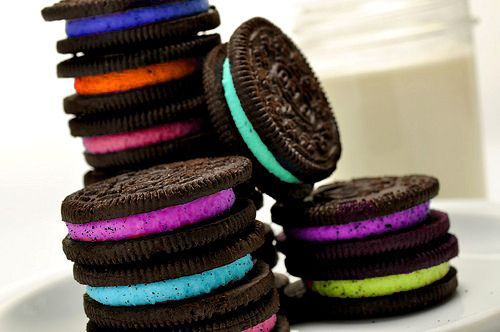 rainbow oreos (bet it tastes better in color)!!!