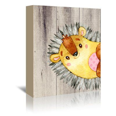 East Urban Home 'Woodland Friends Wild Animal Fox' Graphic Art Print on Wrapped Canvas