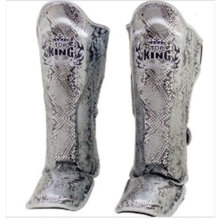 Shin Guards 179782: Top King Tksgss-02 Silver Black Snake Sporting Muay Thai Boxing Shin Pads Guards -> BUY IT NOW ONLY: $79.1 on eBay!
