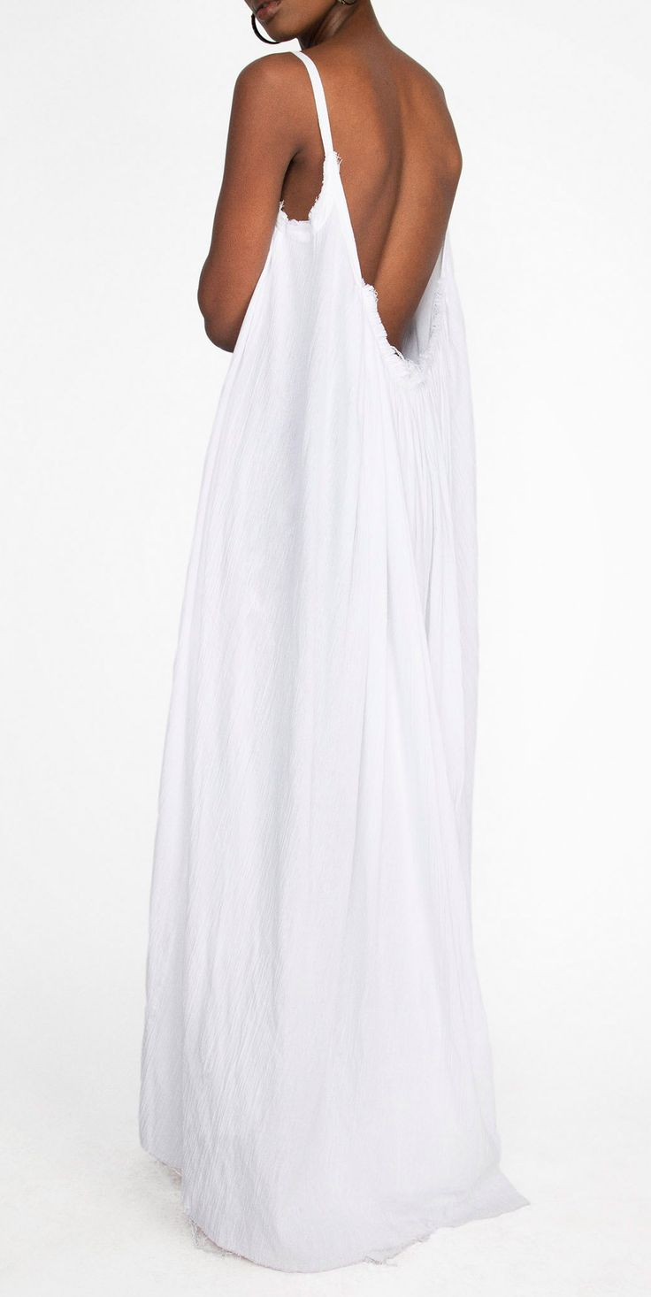 Gathered Gauze Organic Cotton Maxi Dress made from 100% ...