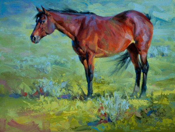 Takin it easy horse painting by jack sorenson graphics for Easy acrylic animal paintings