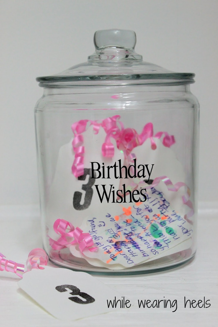 birthday wishes on tags instead of a guest book