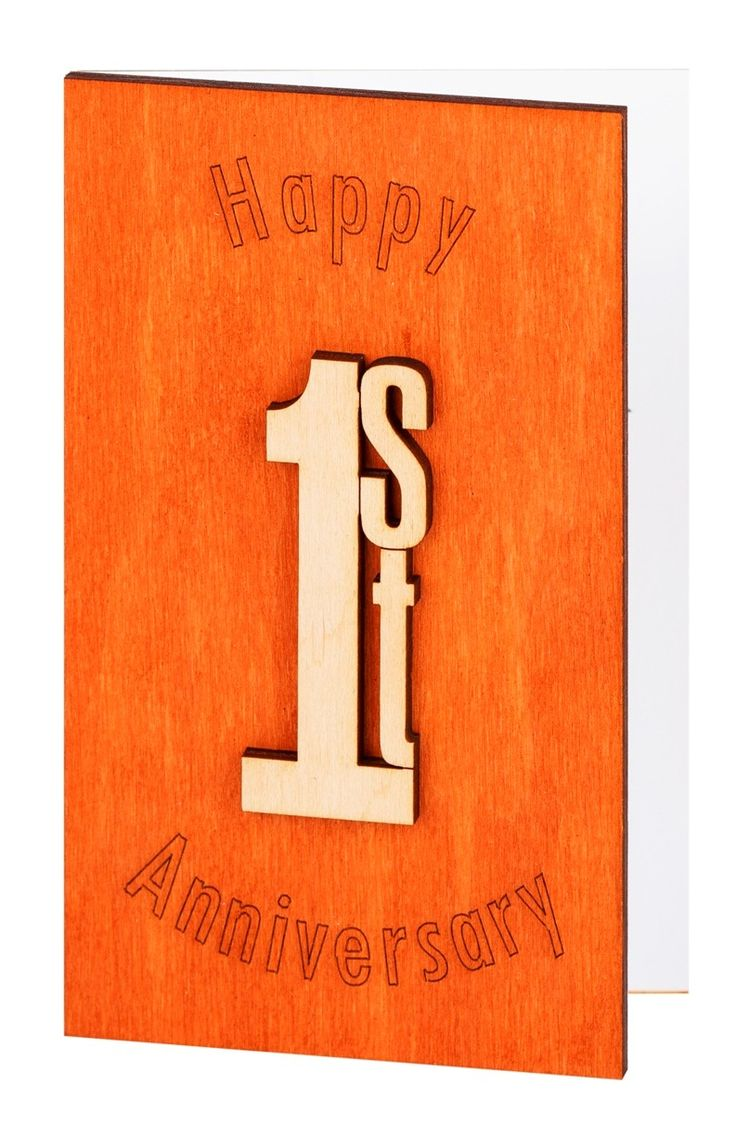 Happy 1st Anniversary, First Anniversary Cards, 1st Anniversary Gift, 1st Wedding Anniversary Card, 1st Anniversary Gift Paper, Wood Cards