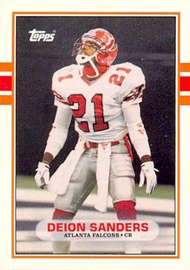 deion sanders cards   1989 Topps Traded Deion Sanders #30T Football Card