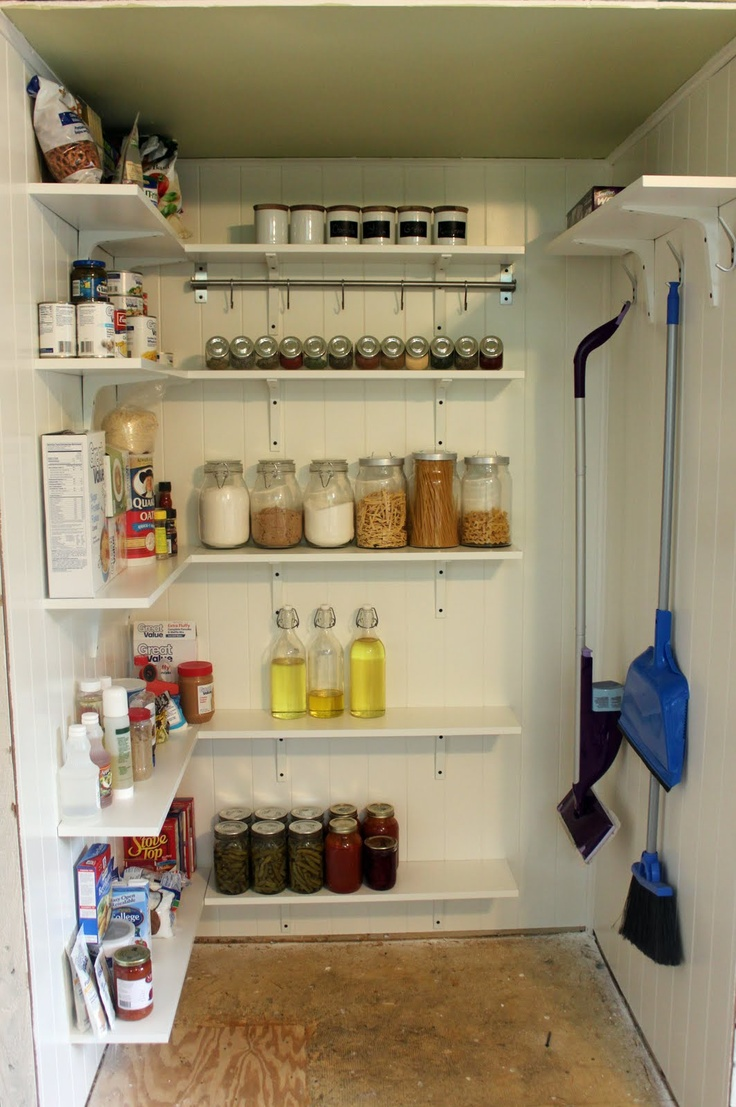 Turn A Closet Into A Pantry Backroom Kitchen Wall Storage Wall Storage Wall Shelves