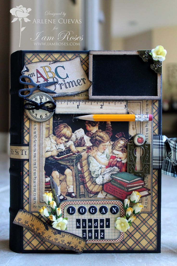 Butterfly Kisses & Paper Pretties: An ABC Primer - Altered School Book Memories Keeper