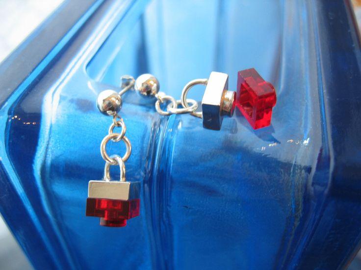 dangle brick earrings