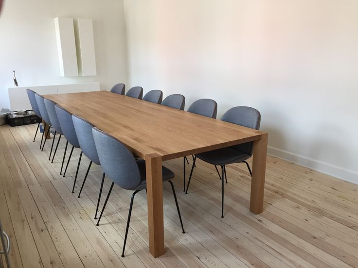 """Long """"KOTO"""" dinner table with a length of 3,80. To a home with space.  http://www.kjeldtoft.com/"""