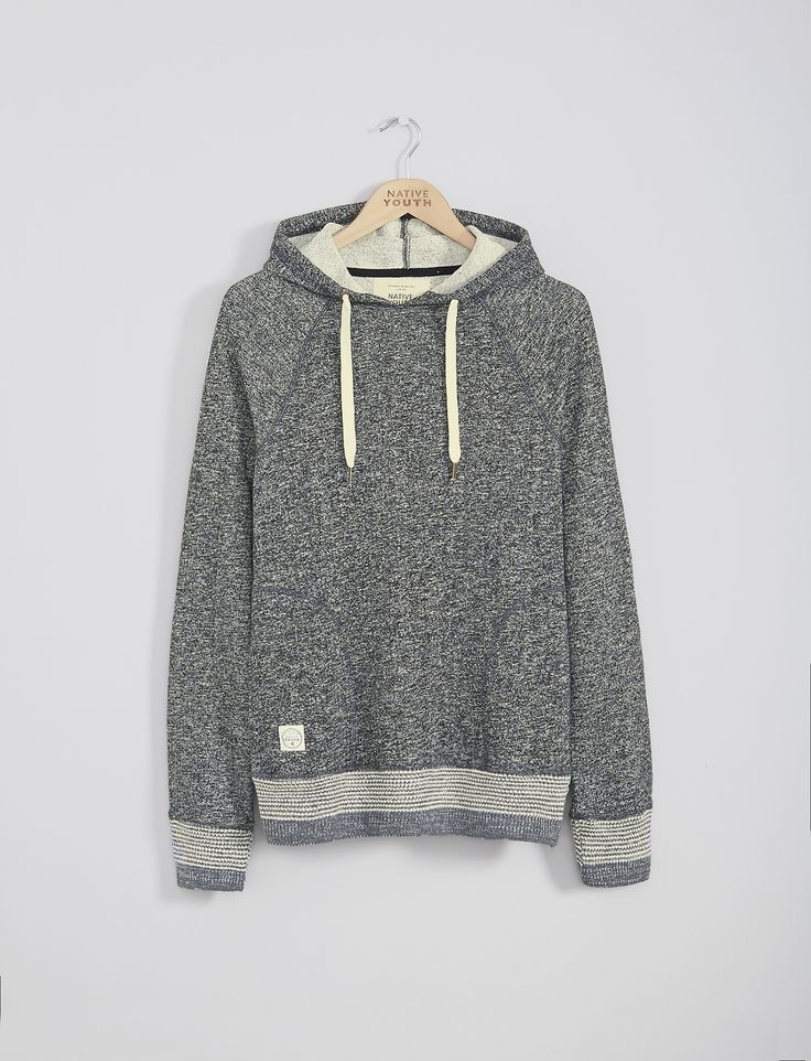 Overhead Salt & Pepper Knitted Rib Hoodie | Native Youth | Native Youth