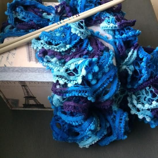 Irish Hand Knit, Women's Scarf, Vintage Lace Style, also with pompom, new collection available lenght 54- 60cm by TheCraftyShamrock on Etsy