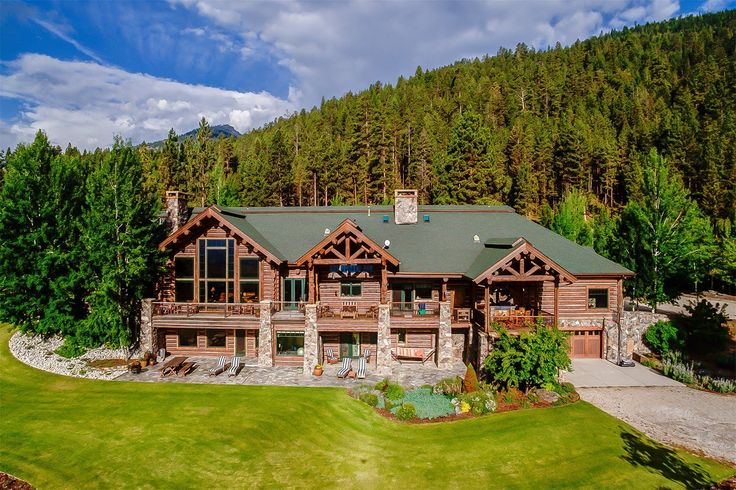Exquisite Log Home in Victor, Montana - YouTube