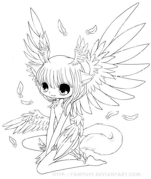 Six Wings Commish Lineart By YamPuff On DeviantART