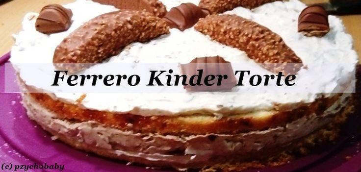 Eine leckere Torte, die groß und klein beeindruckt. Die Ferrero Kinder Torte ist einfach klasse  #Torte #Backen #kochen #food #rezepte #rezept #kochenmitliebe #backenmitliebe #food #rezeptideen