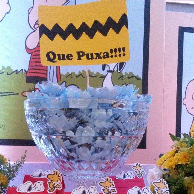 Que puxa!!! A frase mais marcante do Charlie Brown!!! Plaquinhas para decorar a festa. Decor por @ginamondegofestas #ascriacoes #peanutsgang #snoopy #mae_festeira #snoopyparty @dentrodafesta @mae_festeira