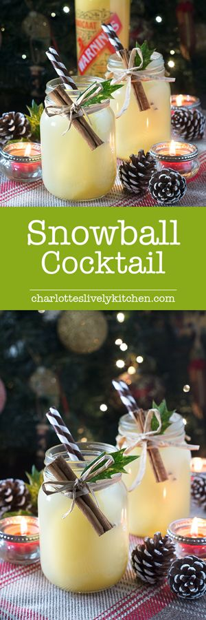 How to make a traditional snowball cocktail with Advocaat, lime juice and lemonade. The perfect drink for getting into the festive spirit this Christmas.