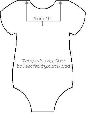 Here's the template to make the onesie banner for baby showers: