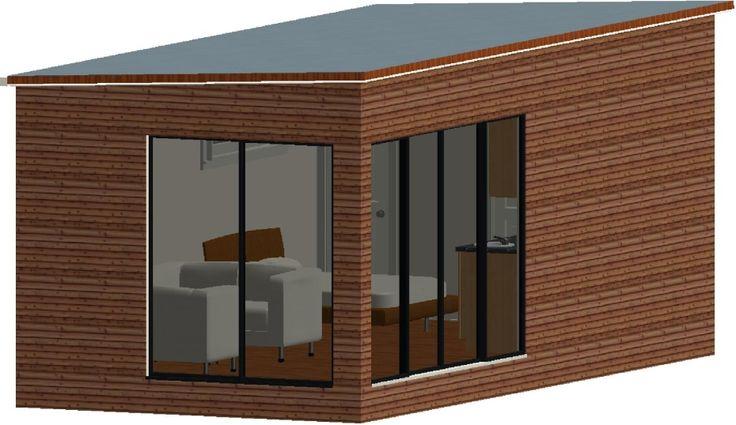 Granny Flat Design Brisbane - The Mini Studio Pod - 22.7m2