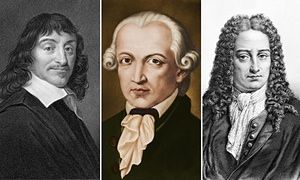 philosophers: Descartes, Kant, Leibniz