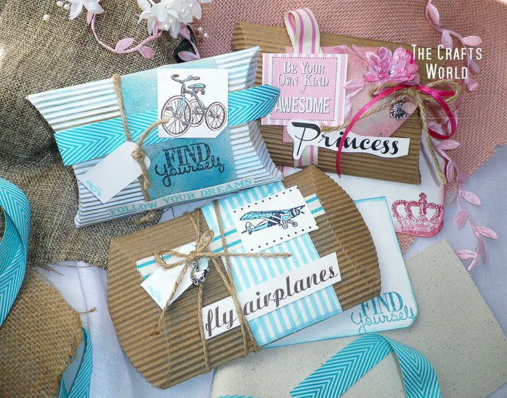 Baby pillow boxes – Boy and girl