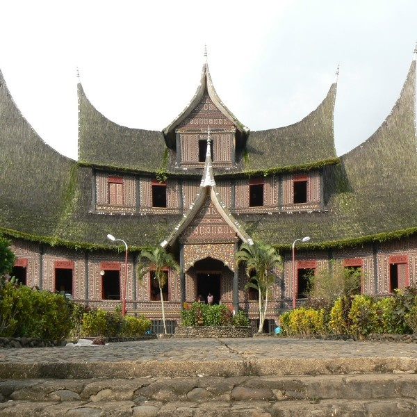 Indonesian traditional home styles of gadang house