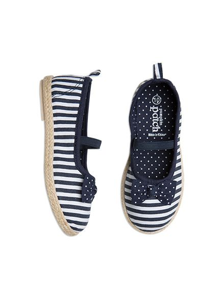 Footwear Spotty Bow Striped Espadrille Insignia Blue shoes
