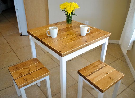 Farmhouse Breakfast Table or Small Dining Table by TheAppelShop
