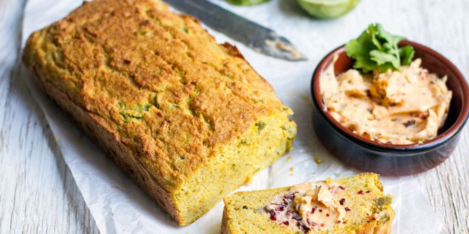 jalapeno coconut bread with chipotle butter