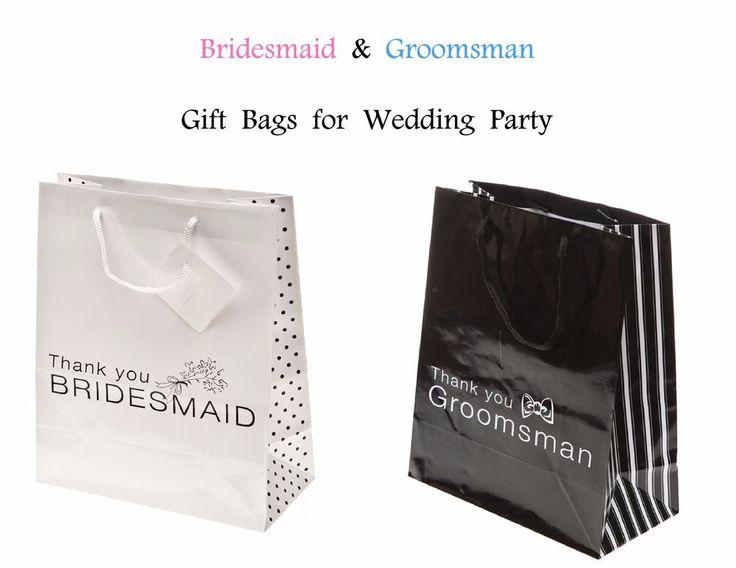 Wedding Gift Bags Bridesmaid Groomsman Maid of Honor Best Man Thank You - 12 BAG #Unbranded #Wedding