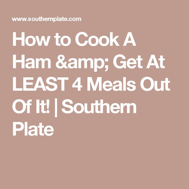 How to Cook A Ham & Get At LEAST 4 Meals Out Of It! | Southern Plate