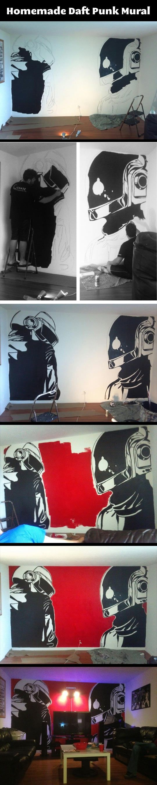 I know we said that the walls should be grayscale, but this is pretty cool.