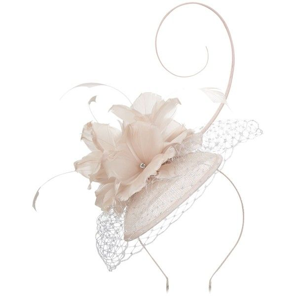 Jacques Vert Feather Flower Fascinator ($105) ❤ liked on Polyvore featuring accessories, hair accessories, hair fascinators, jacques vert fascinators, jacques vert, fascinator hat and feather fascinators
