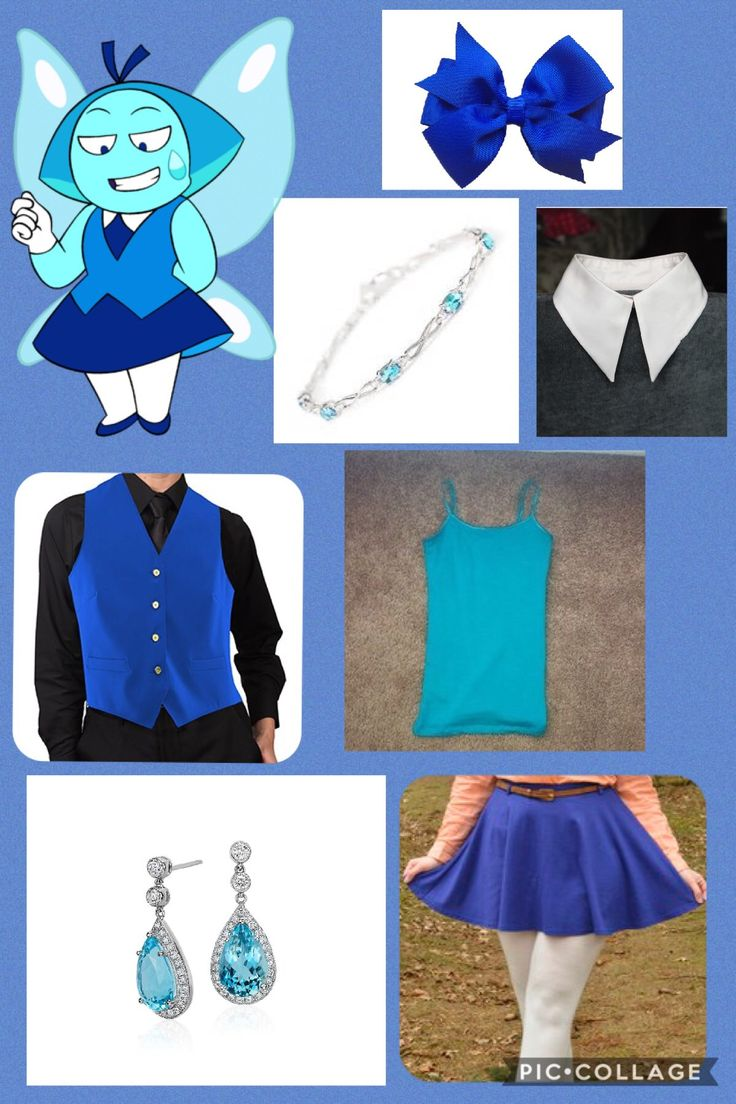I don't own Steven Universe or any of the companies that made these clothes. This is an outfit inspired by Aquamarine from Steven Universe. I made this on pic collage.