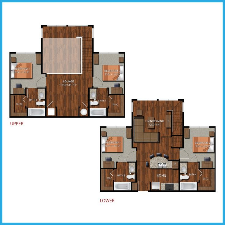 4 Bedroom College Station Apartment. 9 best College Station Apartment Floorplans images on Pinterest