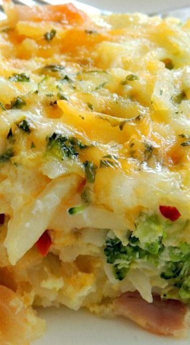 Potato, Broccoli & Pepper Jack Egg Casserole