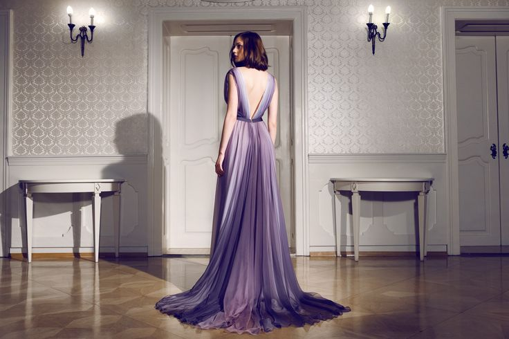Daalarna Couture Ombre Purple Evening Dress_Secret collection