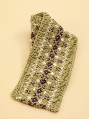 Image of Fair Isle Scarf... have always wanted to learn how to make a Fair Isle patterned something...