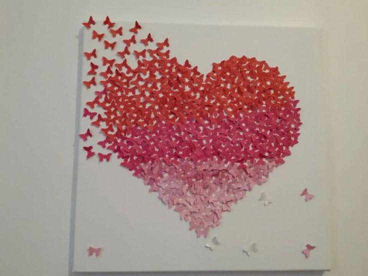 tableau papillon pour ma fille tableaux et ce qui s 39 accroche aux murs pinterest papillons. Black Bedroom Furniture Sets. Home Design Ideas