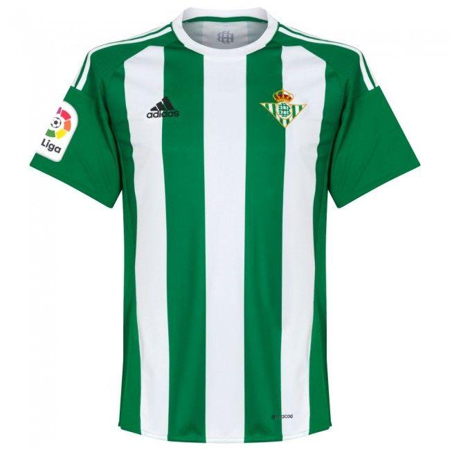66ad97424 Camiseta del Real Betis 2016-2017 Local #betis   CAMISETAS DE FUTBOL    Camisetas de fútbol, Betis y Deportes futbol