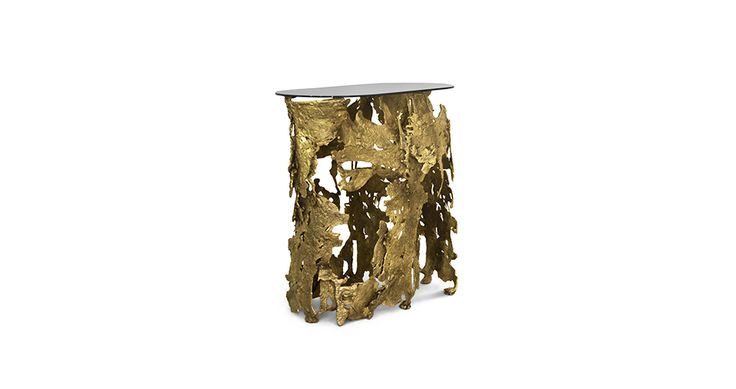 CAY by Brabbu | Modern Console Table Contemporary Design stands out for those that dare themselves to hear nature's scream, adopting it in an urban lifestyle. Find more: https://www.brabbu.com/en/art/cay-console/