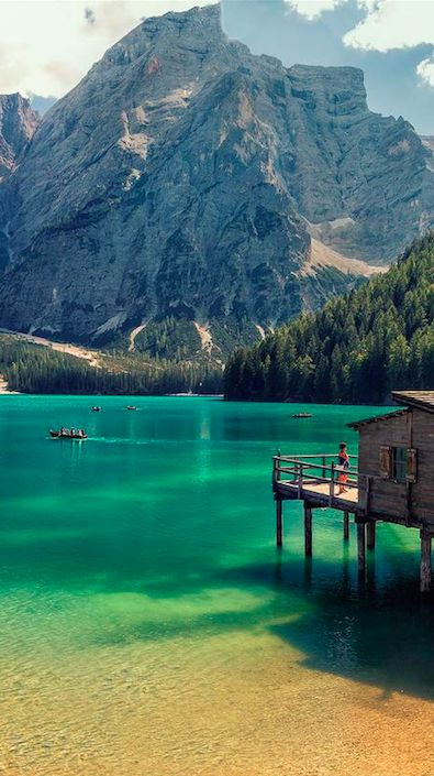 Lago di Braies in the Prags Dolomites of South Tyrol, Italy by Giorgio Galano